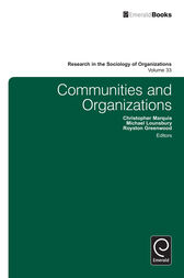 Communities and Organizations by Chris Marquis