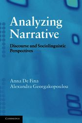 Analyzing Narrative by Anna De Fina