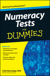 Numeracy Tests For Dummies by Colin Beveridge