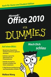Office 2010 für Dummies by Wallace Wang