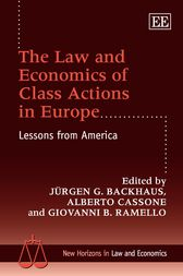 The Law and Economics of Class Actions in Europe by Jurgen G. Backhaus