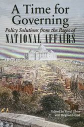 A Time for Governing by Yuval Levin