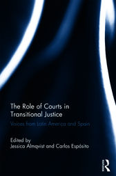 The Role of Courts in Transitional Justice by Jessica Almqvist