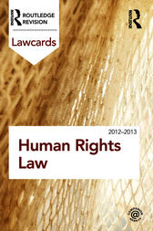Human Rights Lawcards 2012-2013 by Routledge