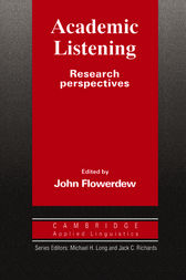 Academic Listening by John Flowerdew