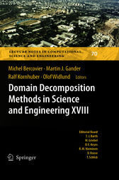 Domain Decomposition Methods in Science and Engineering XVIII by Olof Widlund