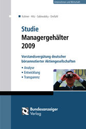 Studie Managergehälter 2009 (E-Book) by Christoph Kuhner