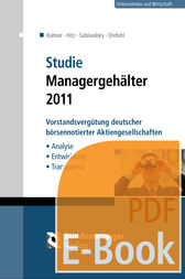 Studie Managergehälter 2011 (E-Book) by Christoph Kuhner