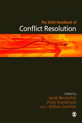 The SAGE Handbook of Conflict Resolution by Jacob Bercovitch