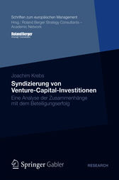 Syndizierung von Venture-Capital-Investitionen by Joachim Krebs