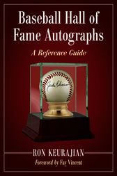 Baseball Hall of Fame Autographs by Ron Keurajian