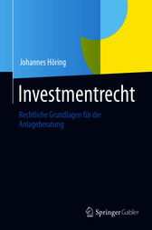 Investmentrecht by Johannes Höring