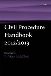 Civil Procedure Handbook 2012/2013 by Victoria McCloud
