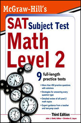 McGraw-Hill's SAT Subject Test Math Level 2, 3rd Edition by John Diehl