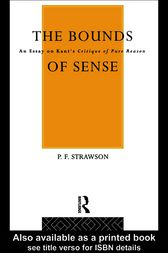 Bounds of Sense by Peter Strawson