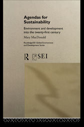 Agendas for Sustainability by Mary MacDonald