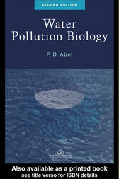 Water Pollution Biology, Second Edition by P.D. Abel