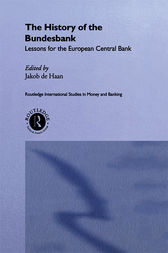 The History of the Bundesbank by Jakob De Haan