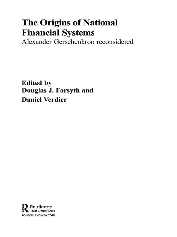 Download Ebook The Origins of National Financial Systems by Douglas J. Forsyth Pdf