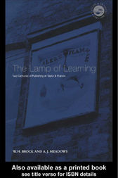 The Lamp Of Learning by W H Brock