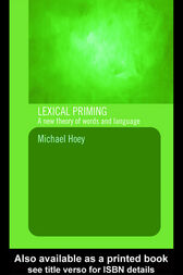 Lexical Priming by Michael Hoey