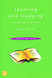 Learning and Studying by James Hartley