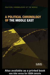 A Political Chronology of the Middle East by Europa Publications