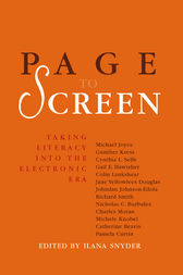 Page to Screen by Ilana Snyder