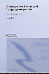 Comparative Syntax and Language Acquisition by Luigi Rizzi