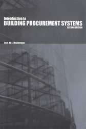 An Introduction to Building Procurement Systems by J.W.E. Masterman