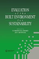 Evaluation of the Built Environment for Sustainability by Vicenzo Bentivegna