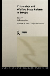 Citizenship and Welfare State Reform in Europe by Jet Bussemaker