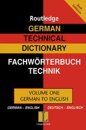 German Technical Dictionary (Volume 1) by Robert Dimand