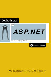CodeNotes for ASP.NET by Gregory Brill