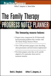 The Family Therapy Progress Notes Planner by David J. Berghuis