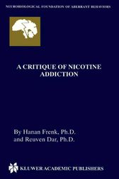 A Critique of Nicotine Addiction by Hanan Frenk