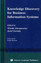 Knowledge Discovery for Business Information Systems by Witold Abramowicz