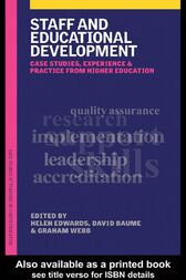 Staff and Educational Development by David Baume