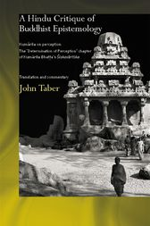 A Hindu Critique of Buddhist Epistemology by John Taber