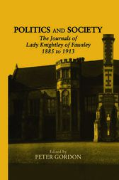 Politics and Society by Peter Gordon