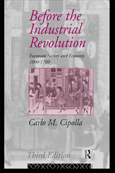 Before the Industrial Revolution by Carlo M. Cipolla