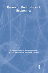 Essays in the History of Economics by William Henderson