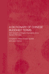 A Dictionary of Chinese Buddhist Terms by Lewis Hodous