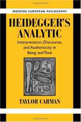 Heidegger's Analytic by Taylor Carman