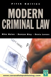 Modern Criminal Law by Mike Molan