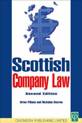 Scottish Company Law by Brian Pillans