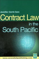 South Pacific Contract Law by Jennifer Corrin-Care