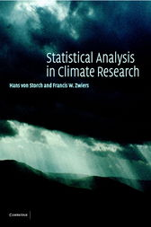 Statistical Analysis in Climate Research by Hans von Storch