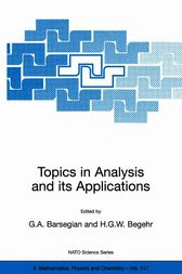 Topics in Analysis and its Applications by Grigor A. Barsegian
