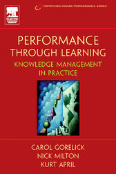 Performance Through Learning by Kurt April